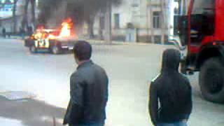 Машина Горит в Центре Душанбе