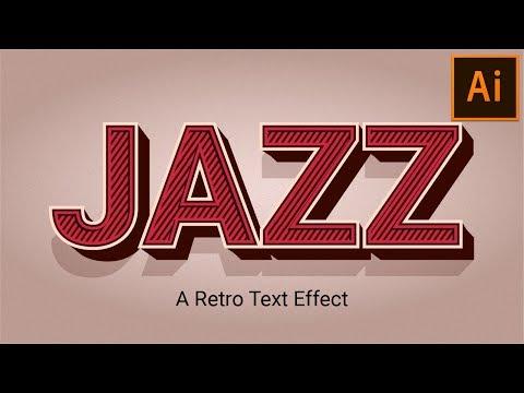 Retro Vintage Text Effect | Illustrator Tutorial