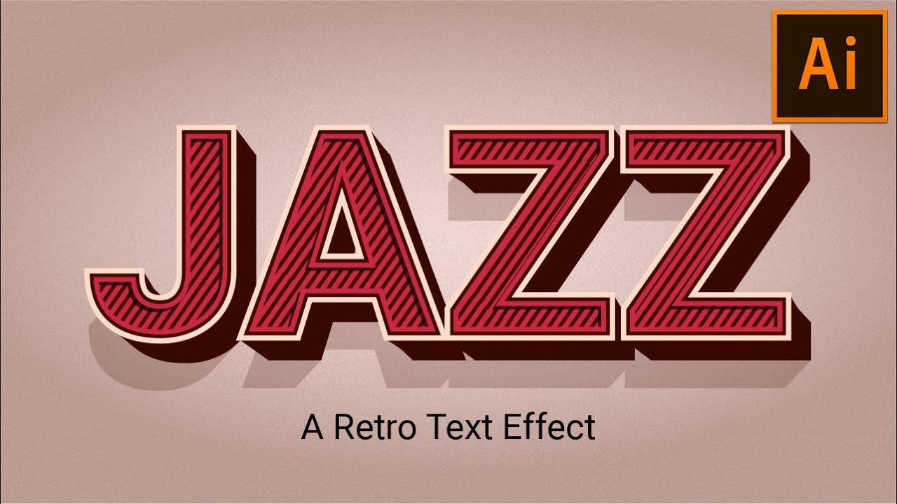 Retro Vintage Text Effect   Illustrator Tutorial - YouTube