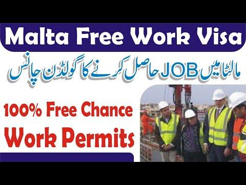 Malta Jobs 2020 MALTA Free Visa Job Offer || World Say Online Visa