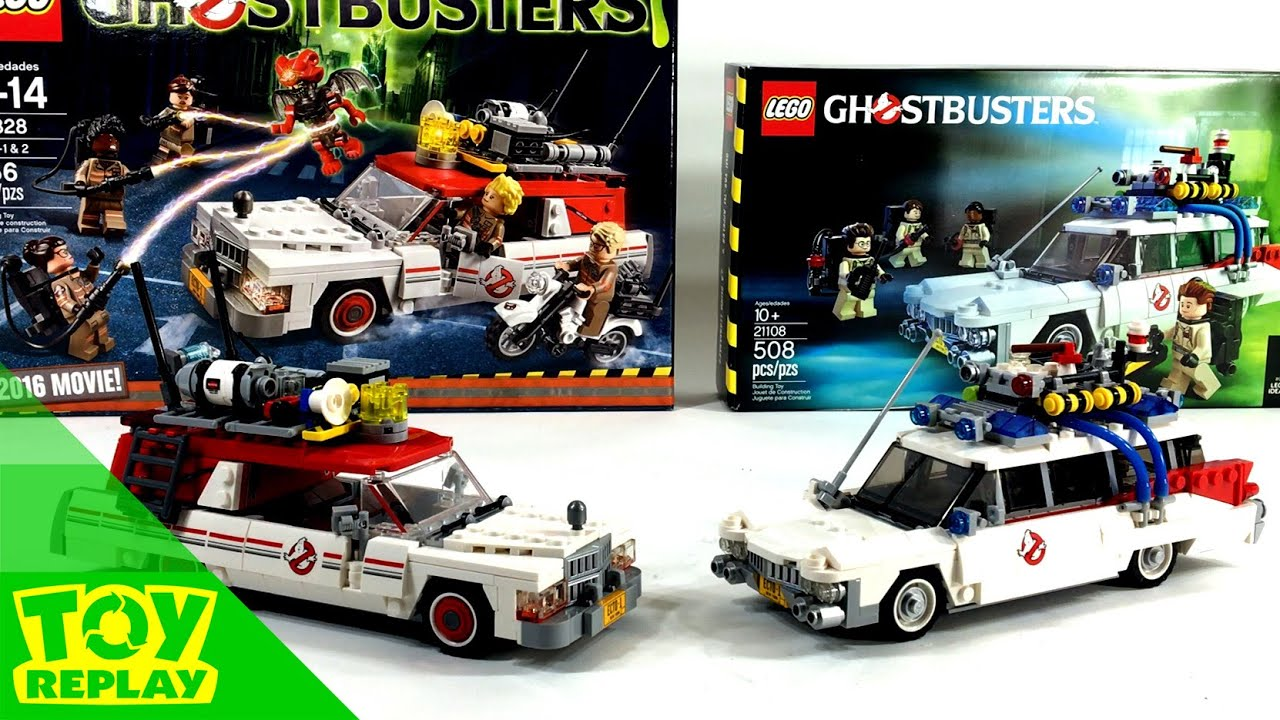 lego ecto 1 comparison toy review ghostbusters 2016 1984. Black Bedroom Furniture Sets. Home Design Ideas