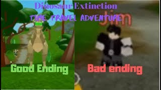 ROBLOX Time Travel Adventures (Dinosaur Extinction) l All 2 Endings