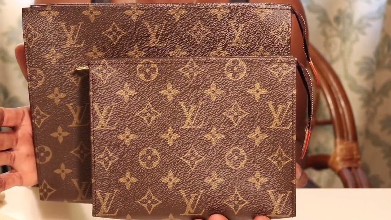d08df3fd9549 LOUIS VUITTON TOILETRY POUCH 19 VS 26 + LOUIS VUITTON SIX RING KEY HOLDER  VS MICHAEL KORS KEY HOLDER
