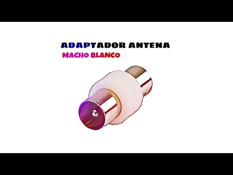 Video de Adaptador antena macho  Blanco