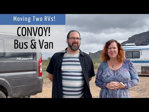 convoy!-traveling-separately-in-two-rvs:-motorhome-and-van-conversion