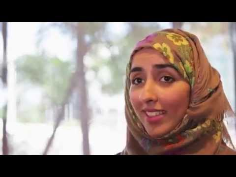 Eman from Saudi Arabia studies Master of Pharmacy at Griffith University Gold Coast campus