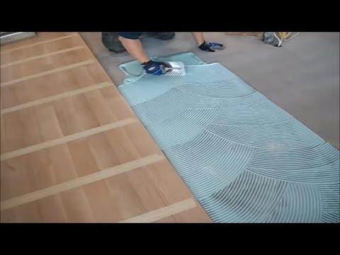 Wood Flooring Installation: How To Apply Flooring Glue on Concrete Subfloor MrYoucandoityourself