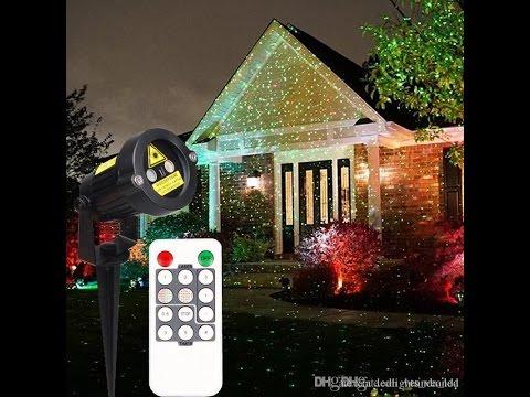 christmas laser garden lights auto strobe outdoor waterproof lawn light timer control - Christmas Lawn Lights