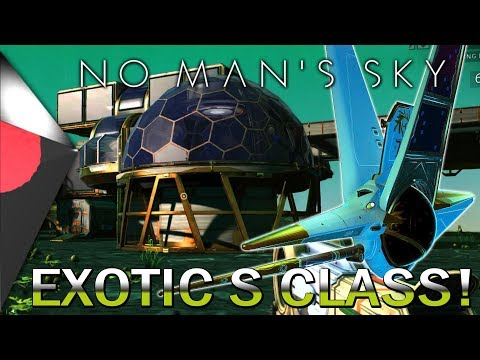 A Players Farm & A Beautiful Exotic S Class Ship in No Man's Sky