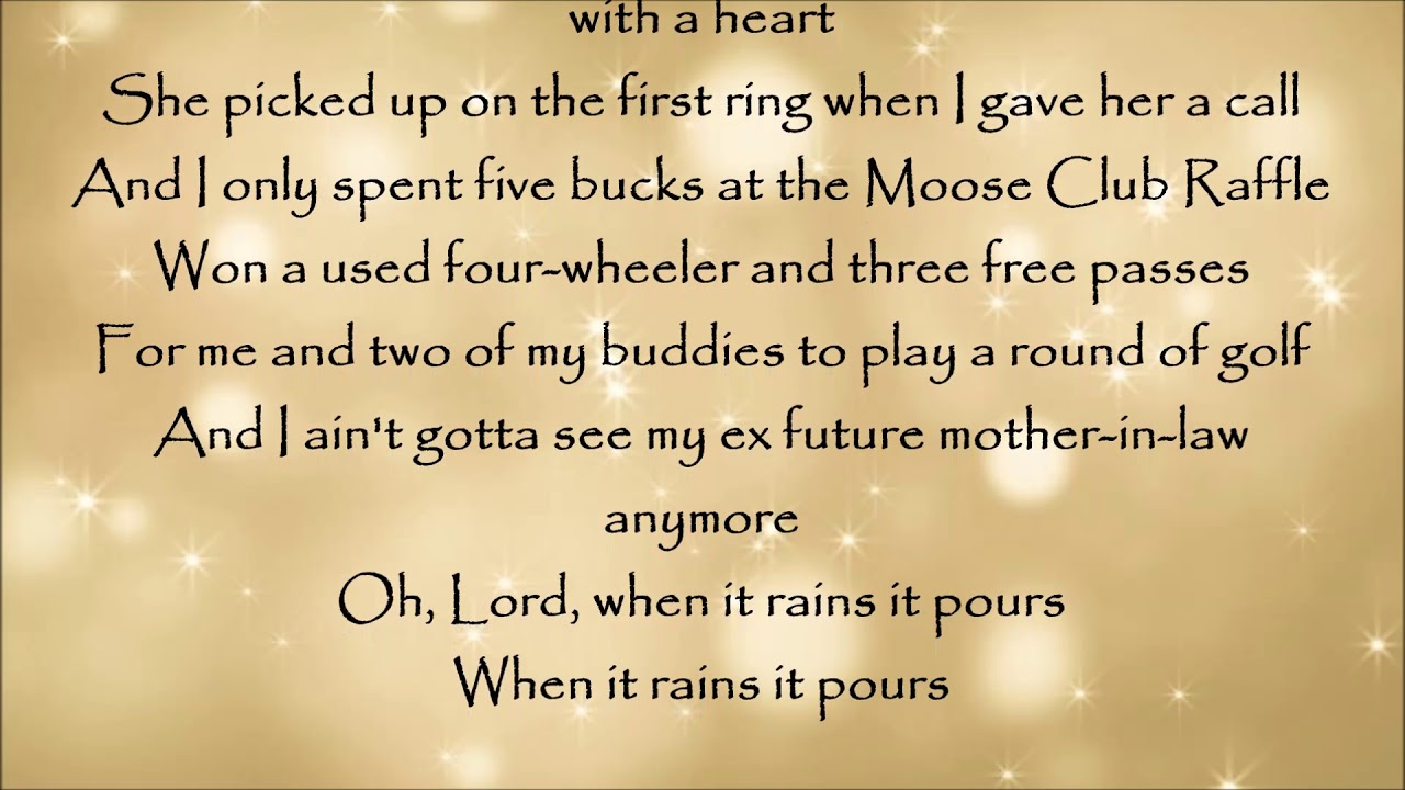 When It Rains It Pours - Luke Combs Lyrics - YouTube