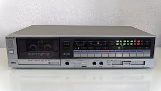 Detailed look at the 1983 Sharp RT-350 Autoreverse cassette deck