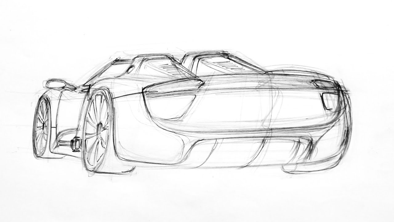 sketching the porsche 918 spyder and messing it up speed art youtube. Black Bedroom Furniture Sets. Home Design Ideas