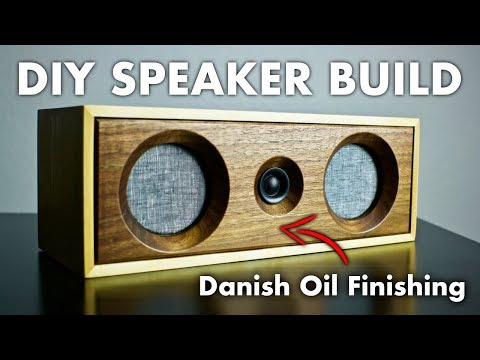 Stereo DIY Bluetooth Speaker Build | How To Build A Willow Speaker | Wood Finishing With Danish Oil