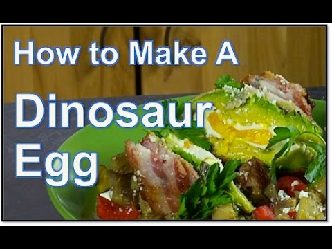 How To Make Poached Dinosaur Eggs (Bacon Avocado Egg) - Daves Big ...