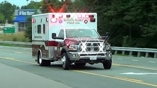 North East Fire Co. Ambulance 493 responding (yelp, phaser, horn) [MD 7/21/2013]