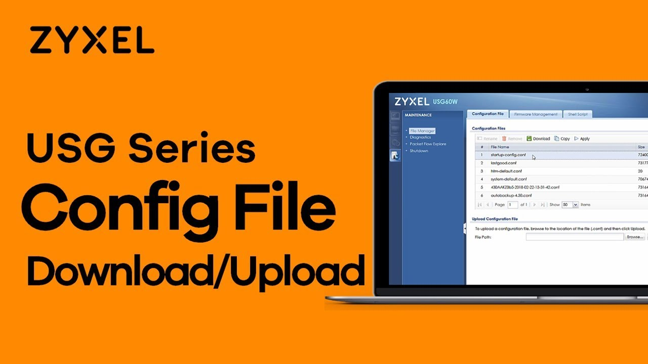 Zyxel USG Series - How to Download/Upload Configuration File via FTP