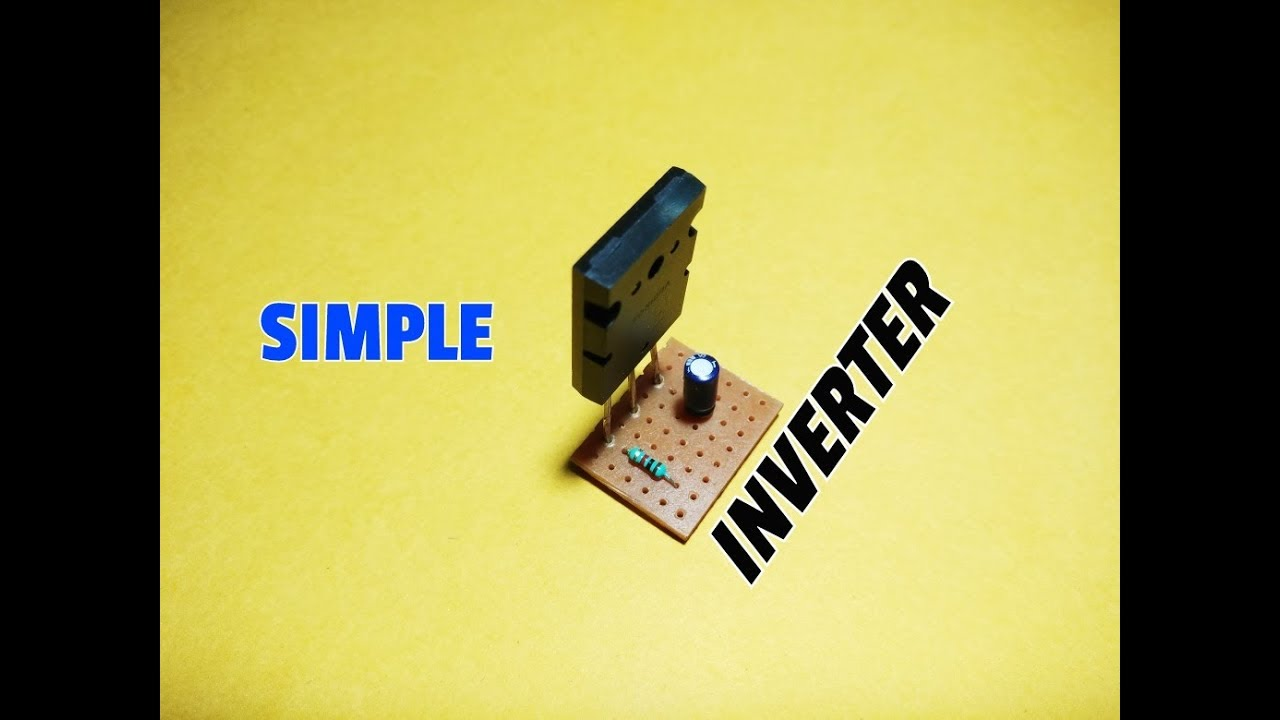 How To Make Simple Inverter Circuit 12v Dc 220v Ac Using Charger A Single Transistor It Starts Charging When