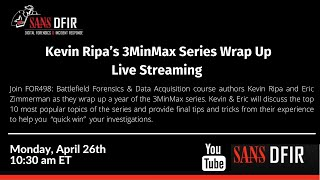 Kevin Ripa's 3MinMax Series Wrap Up   LIVE STREAM