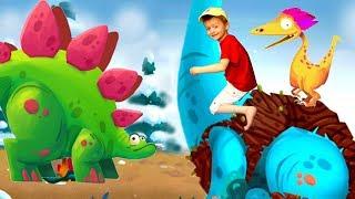 Игра про Динозавров для Детей Защищаем Яйцо от Траглодитов #20 Мультик про Динозавров Lion boy