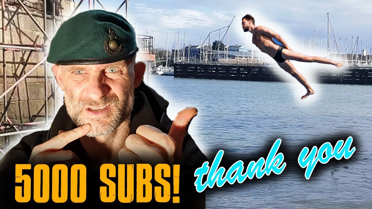 Crazy ROYAL MARINE Dives In FREEZING Sea! 5000 Subs
