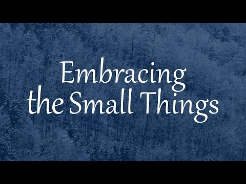 Embracing the Small Things (sermon by Eugene Shkarovskiy)