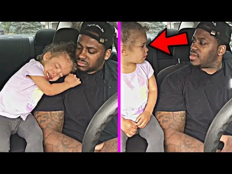 Cute Baby Daughter Cry in School Tells Her dad ... Just shut up and hug me dad!