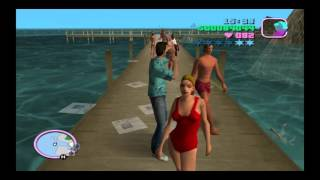 Grand Theft Auto: Vice City PS4 Gameplay: Fighting Everyone at the Boardwalk