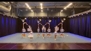 Cheerleading. Team Finland Junior All Girl Elite ICU 2021.Чир спорт. Команда Финляндии юниоры чир ЧМ