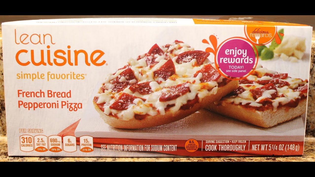 Lean cuisine french bread pepperoni pizza food review for Are lean cuisine pizzas healthy