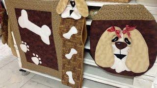 Tapete de banheiro desenho de cachorro