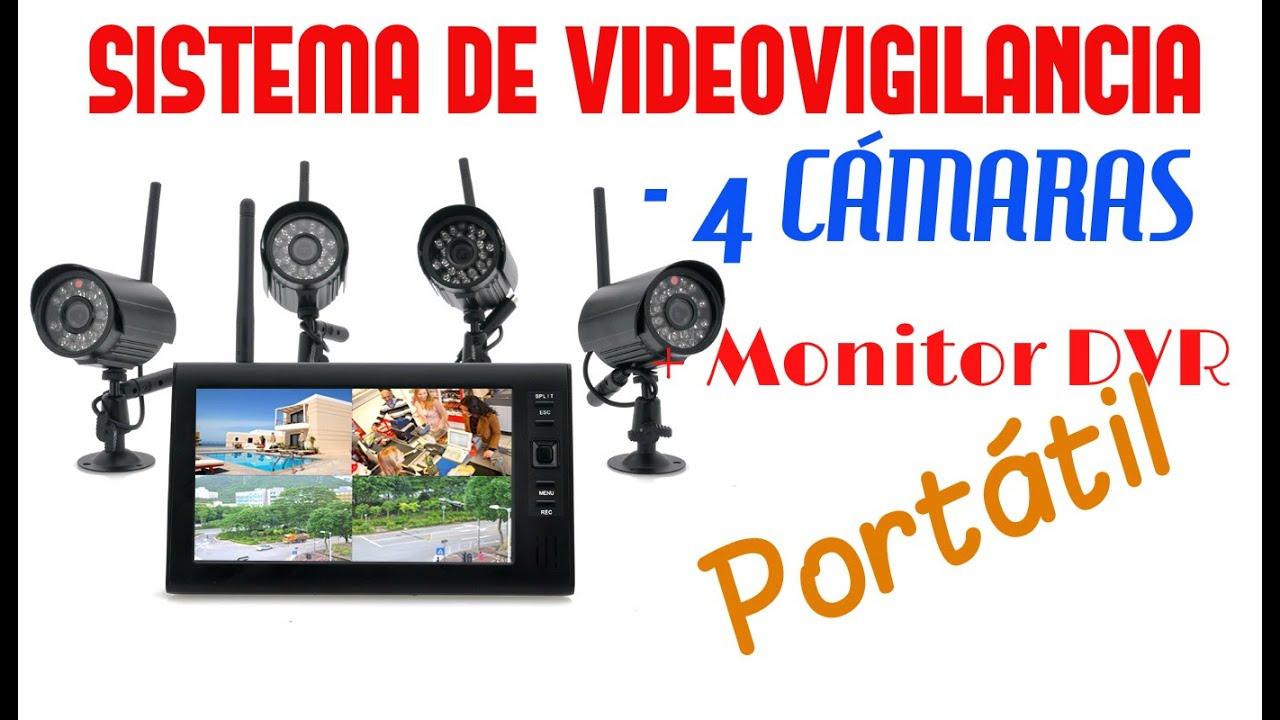 Sistema de seguridad y videovigilancia de 4 c maras - Camaras de seguridad inalambricas ...