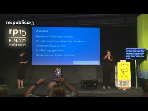 re:publica 2015 - Finding Inclusion in Digital Europe on YouTube