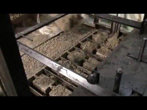 Вибропресс. Работа оборудование для производства шлакоблоков. Производство вибропрессов