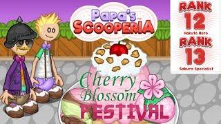 Papa's Scooperia: Unlock Rank 12 - 13 Sakura Specialist Day 24 25 26 Gameplay