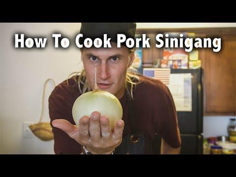 How To Cook Pork Sinigang: Amerikano Nagluto Og Filipino Food // Philippines Travel Vlog 14