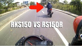 RS150R VS RKS150 RACE | SHOTGUN RIDE | TOPSPEED