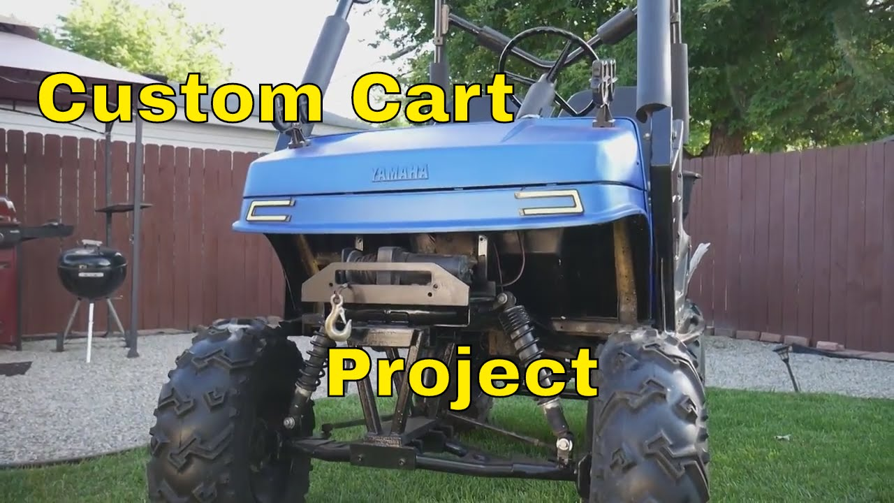 Custom golf cart finished !! predator 420 installed!!