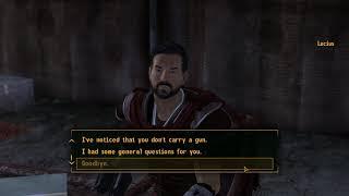 Fallout: New Vegas (PC) - Mentioning Joshua Graham/The Burned Man to Legion Members