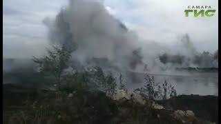 Под Самарой горели мазутные озера