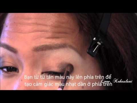 Cách trang điểm mắt khói nhẹ nhàng cho da nâu