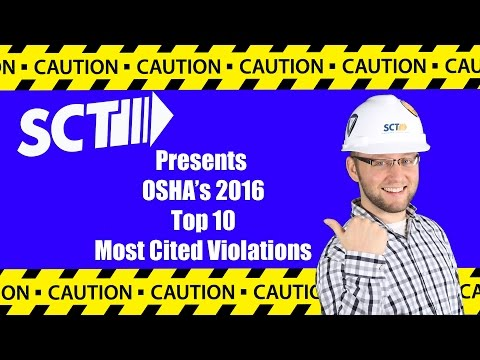 Top 10 Most Cited OSHA Violations of 2016