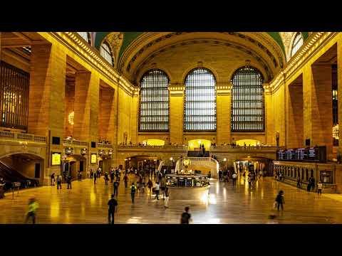 New York Manhattan Grand Centrel & Bryant Park Timelapse 4K