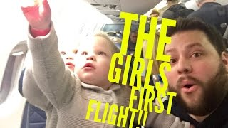 QUADRUPLETS FIRST AIRPLANE RIDE