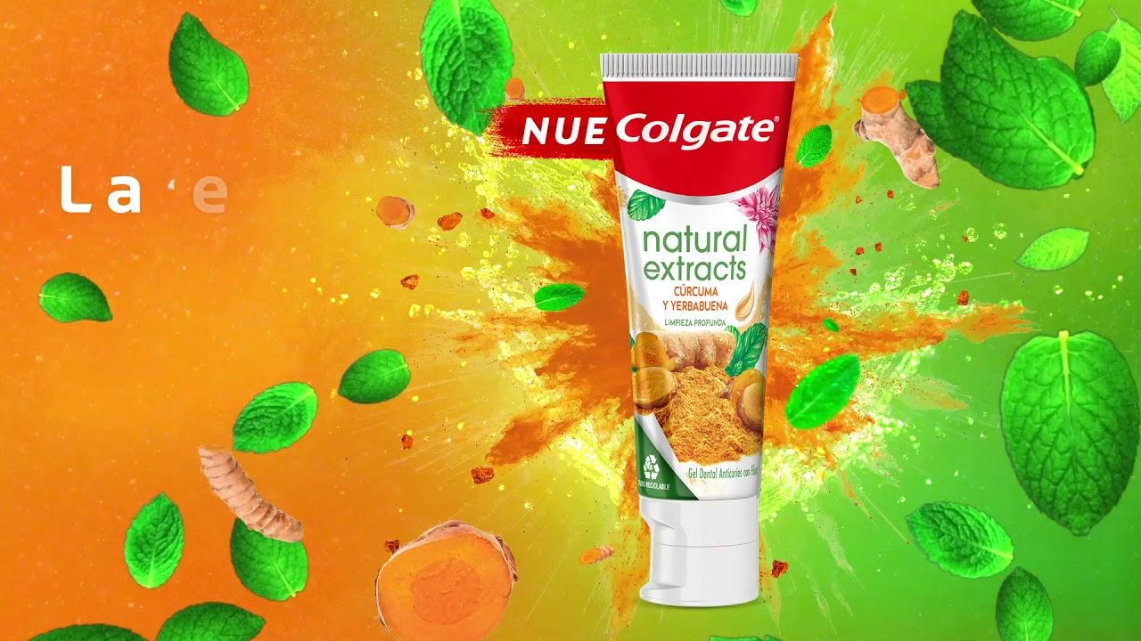 Nueva crema dental Colgate Natural Extracts Cúrcuma y Yerbabuena