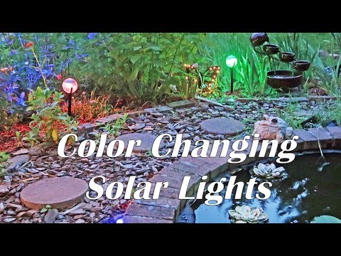 LED SOLAR LIGHTS 💥Color-Changing Outdoor Lights iVapo (Garden-Pathway)  Review 💥