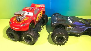 Build to race Jackson storm and lightning McQueen new cars 3 toys