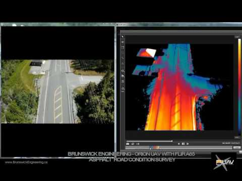 Brunswick Enginering - Road Inspection & Crack Mapping using Orion & FLIR A65 radiometric camera