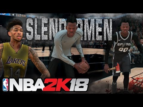 Defeating the Slendermen NBA 2K18 Team