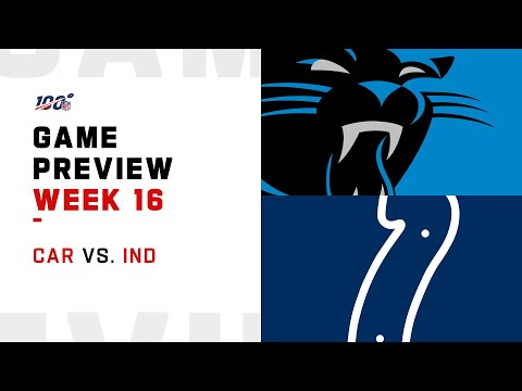 Carolina Panthers vs Indianapolis Colts Week 16 NFL Game Preview