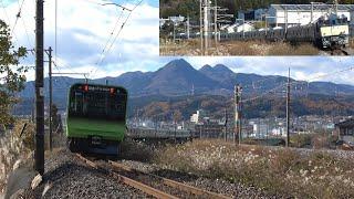 【配給輸送】EF64-1032+山手線E235系トウ49編成 上越線渋川付近通過 2019年11月29日